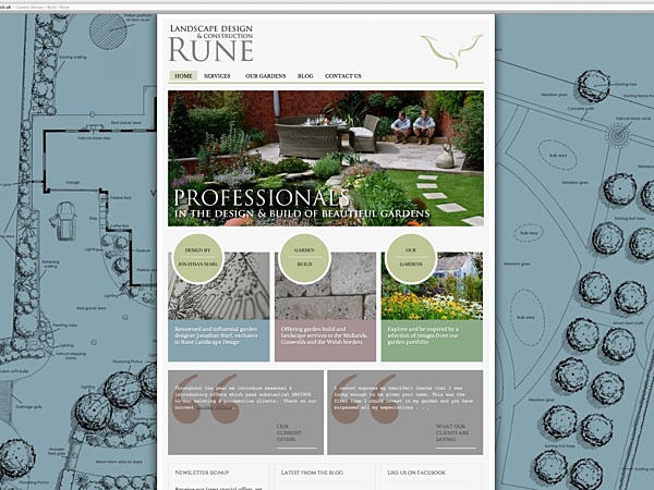 Exceptionnel Rune Garden Design Website Screenshot