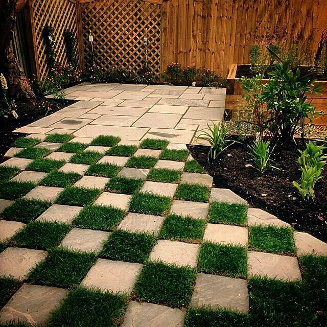 rune landscape design construction checkerboard