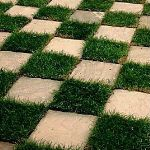 Checkerboard Garden Design - Worcester